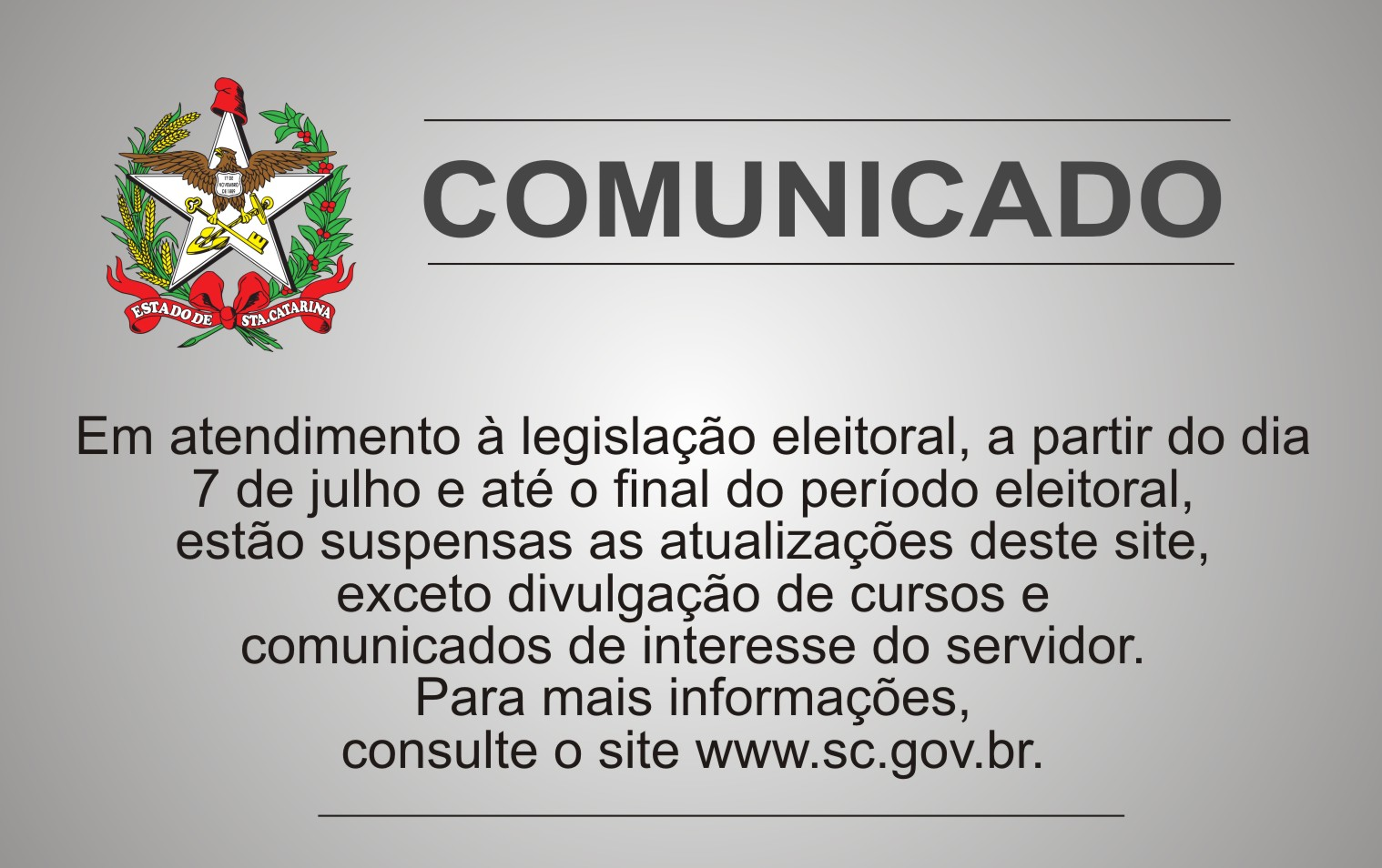 COMUNICADO SITE ELEICOES